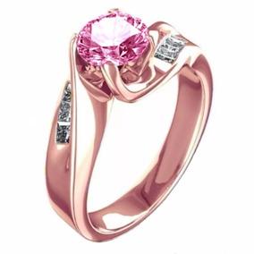 1538 3 CT solitario compromiso anillo de diamante simulado de Acero Inoxidable para Mujer