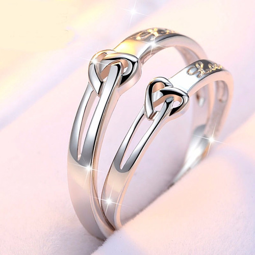 anillos de compromiso plata baratos economicos pareja