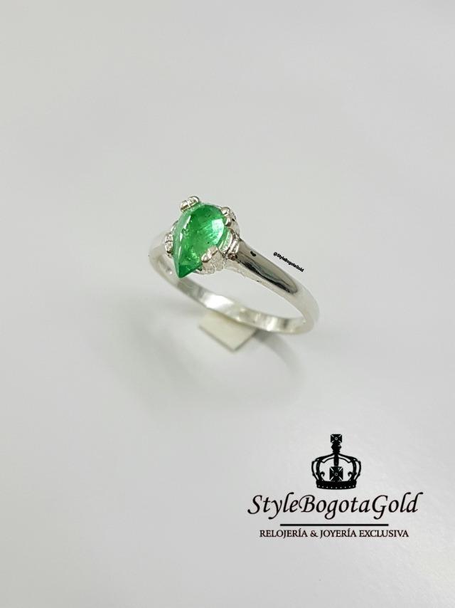a8c637821ef5 anillos de compromiso plata italiana - esmeraldas colombiana. Cargando zoom.