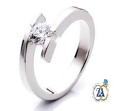 anillos de compromiso solitario en plata, oro 10 y 18 kltes