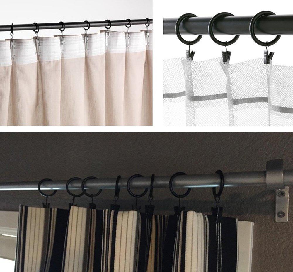 Barra de cortina de anillo con ojales de metal mate Cromado 25mm X 6