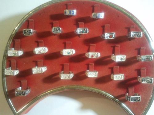 anillos de graduacion kinder o pre escolar en plata ley 925
