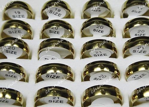 anillos de matrimonio aros en acero inoxidable bodas
