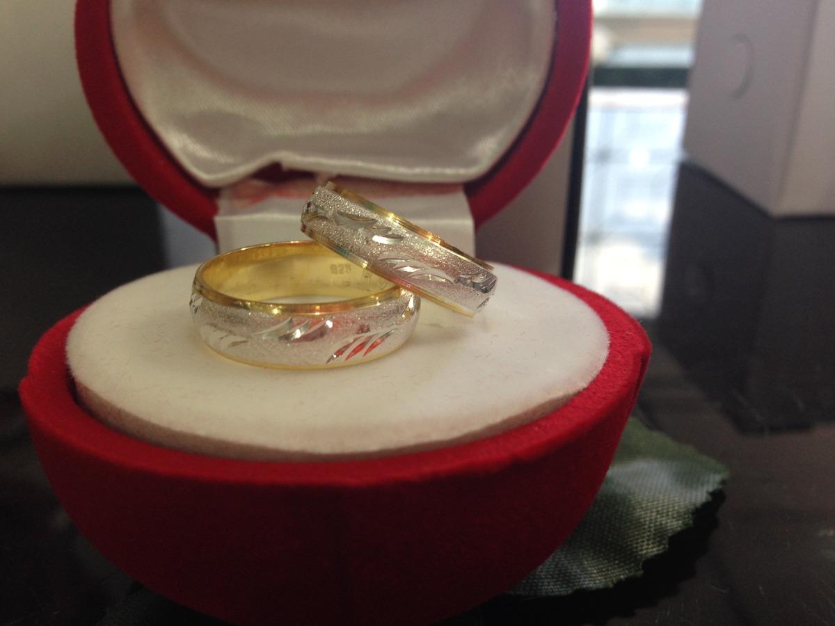 Anillos de matrimonio de plata 925 con ba o de oro bs - Bano de oro ...