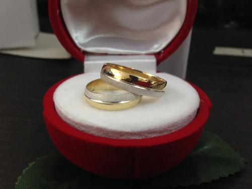 anillos de matrimonio de plata 925 con baño de oro