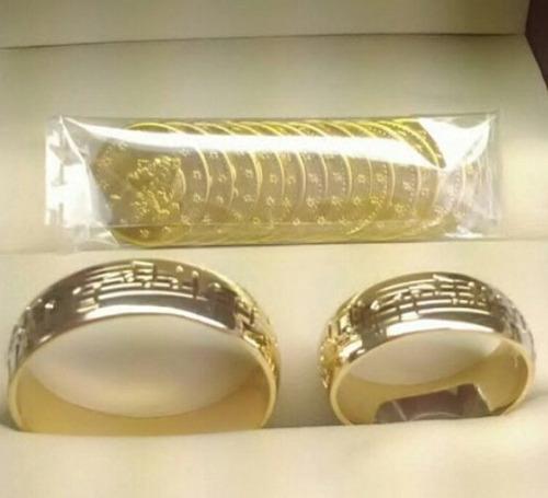 anillos de matrimonio de plata 950 con baño de oro