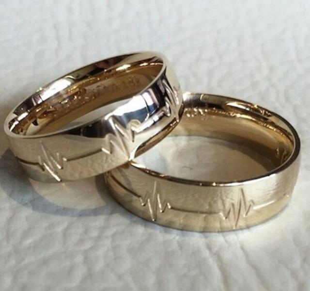 anillos de matrimonio de plata con bao de oro