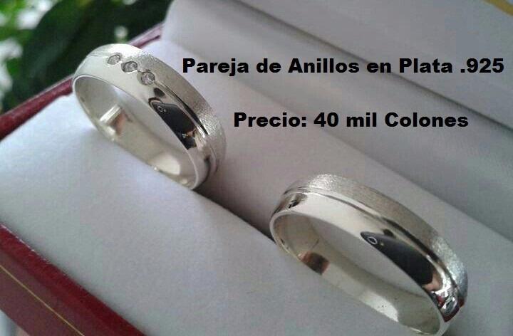 60c21a7179c4 Anillos De Matrimonio En Plata .925 Italiana - ¢ 35