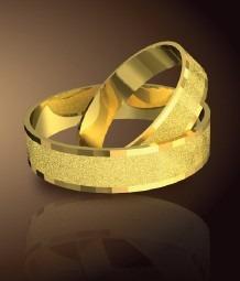 anillos de matrimonio en plata 950 y baño de oro 18k