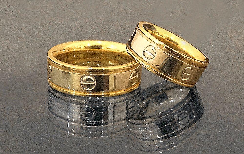 Anillos De Matrimonio En Plata 950 Y Ba O De Oro 18k Bs