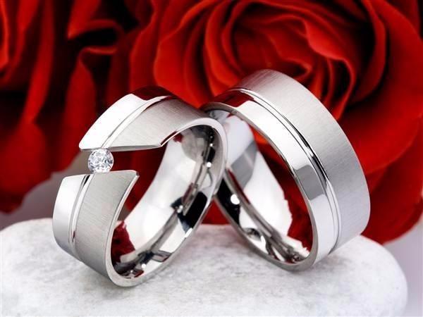 Anillos De Matrimonio En Plata 950 Y Ba O De Oro Blanco
