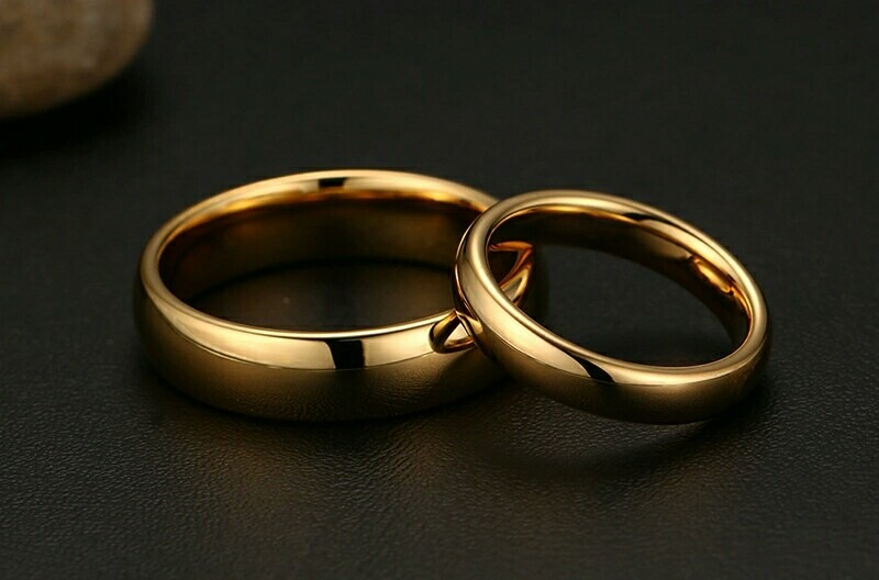 Anillos De Matrimonio Oro 18k Y Plata Aros Amor Boda