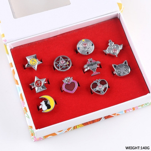 anillos de metal sailor moon anime luna importados!