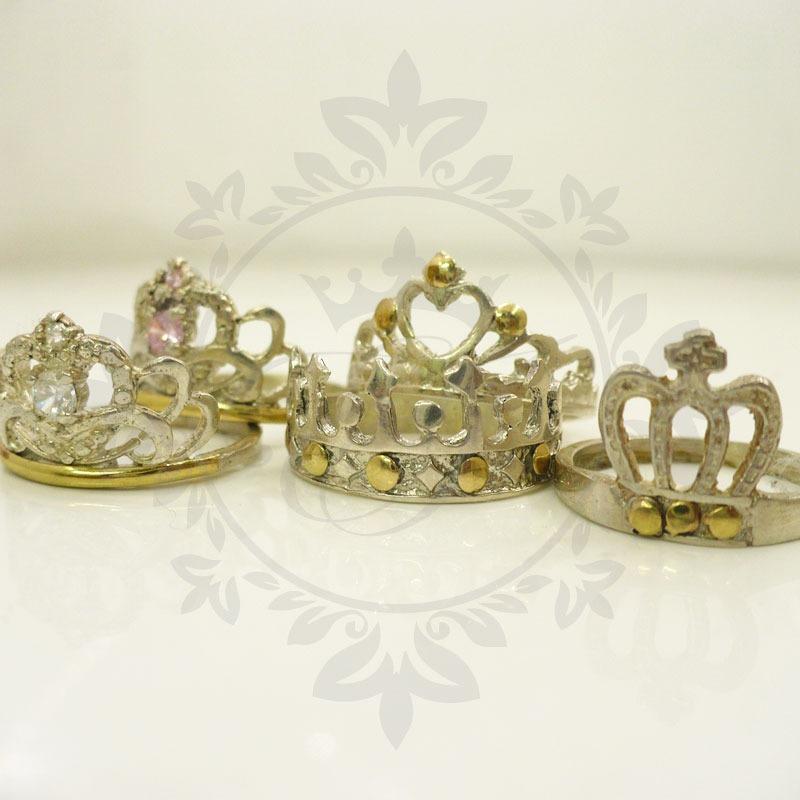 1a55445e689e anillos de plata 925 y oro corona por mayor de 5 surtidos. Cargando zoom.