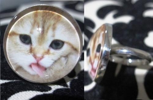 anillos de plata para amante de gatos