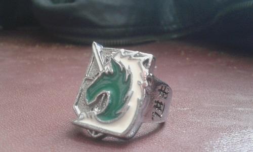 anillos del anime shingeki no kiojin