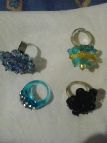anillos fantasia adaptables combo de 4