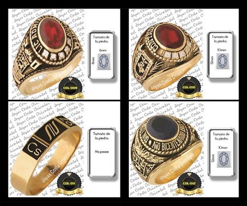 anillos grado graduacion dama caballero plata oro