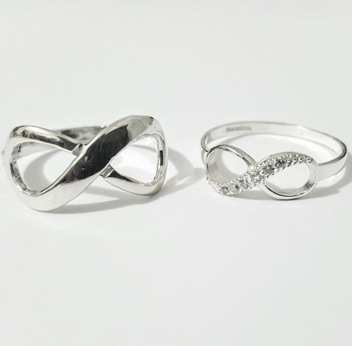 Matrimonio Tema Infinito : Anillos infinito oro con plata boda matrimonio envío