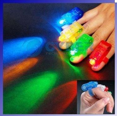*anillos led multicolores, fiestas