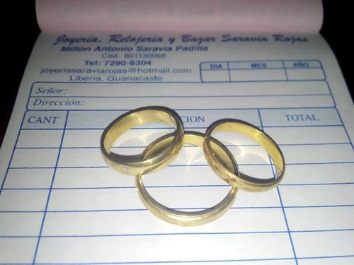 anillos matrimonio 10 kilates