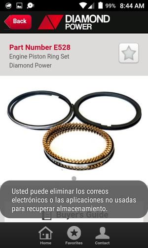anillos mitsubishi montero 3.0l std,020,030,040