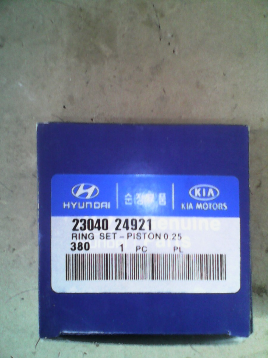Genuine Hyundai 23040-24921 Piston Ring Set