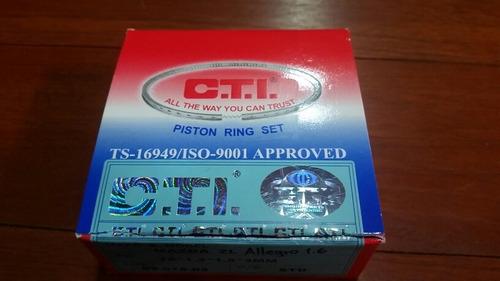 anillos motor mazda allegro 1.6 ford laser 1.6 std estandar