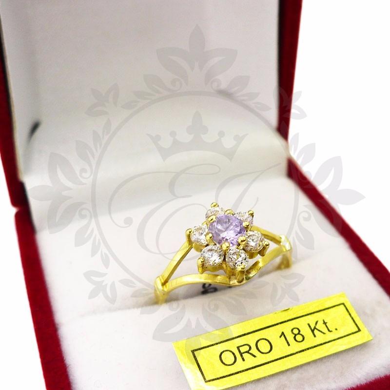 ffe8d7f98c64 anillos mujer oro 18k cintillo roseta piedras cubics mamá! Cargando zoom.