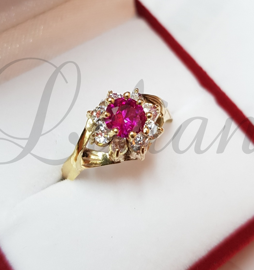 885d147976fe anillos oro 18k cintillo modelo roseta piedras cubic mujer. Cargando zoom.