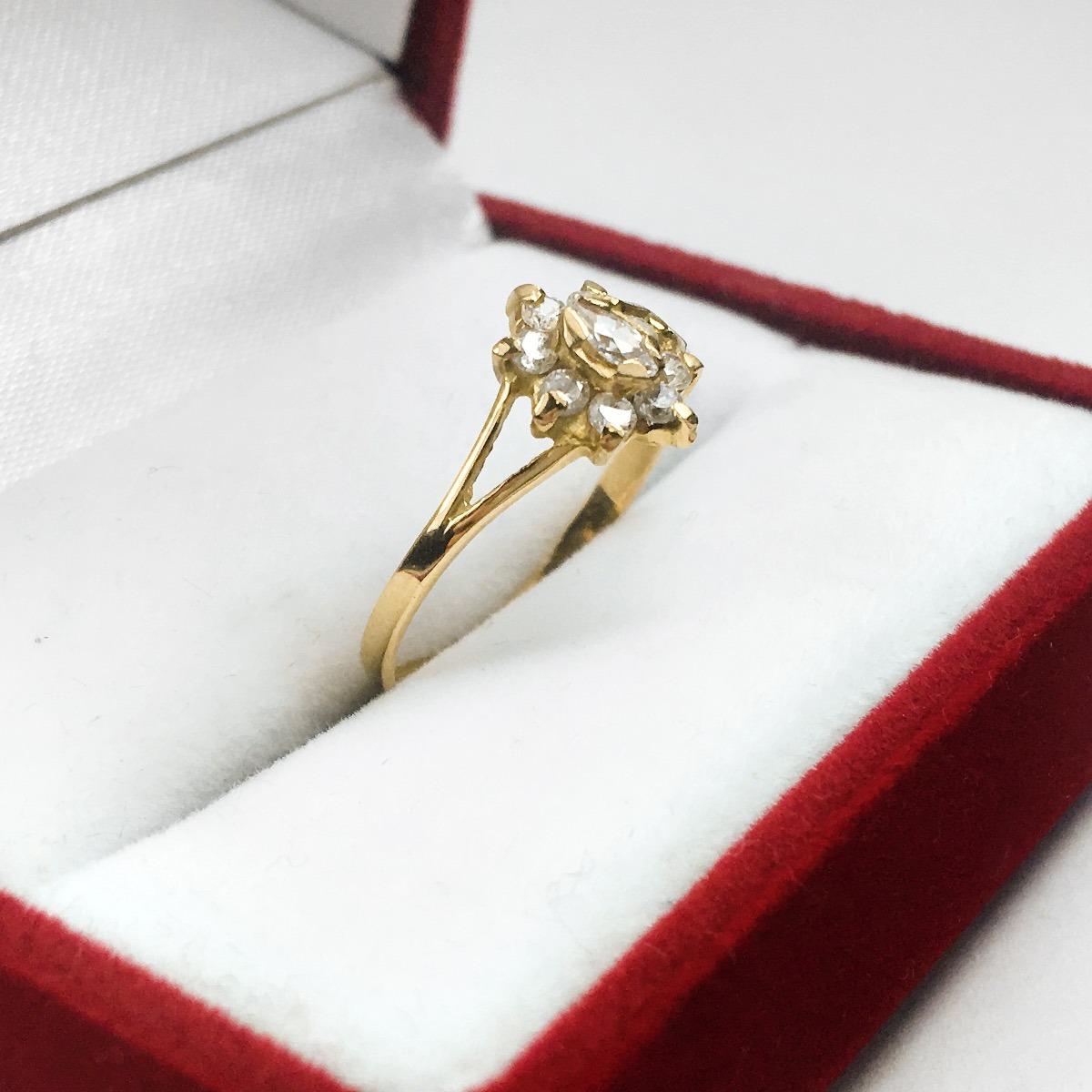 52092fbaac48 anillos oro 18k compromiso roseta con cubics mujer. Cargando zoom.