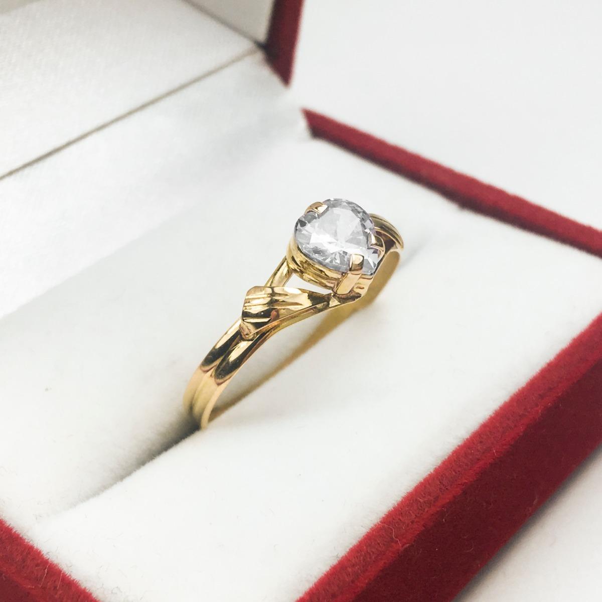 d7e9865a3f61 anillos oro 18k mujer con piedra corazon grande compromiso. Cargando zoom.