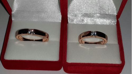 anillos oro con zirconia