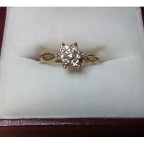 3674fa9514f1 Anillo Oro Flor Diamantes Joyeria Anillos - Anillos Diamantes en ...