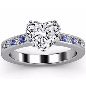 67d336fe945c Anillo Oro 14k Con Diamantes Y Zafiros Color Lila - Anillos en ...