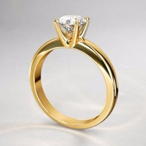 32b7c2732d00 Anillo Oro Amarillo 14kilates Circonia Compromiso Cumpleaños ...