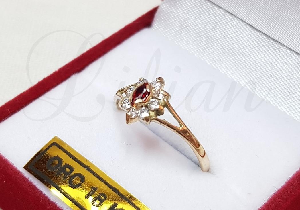 3026d95a1714 anillos oro18k cintillo modelo roseta piedras cubic mujer. Cargando zoom.