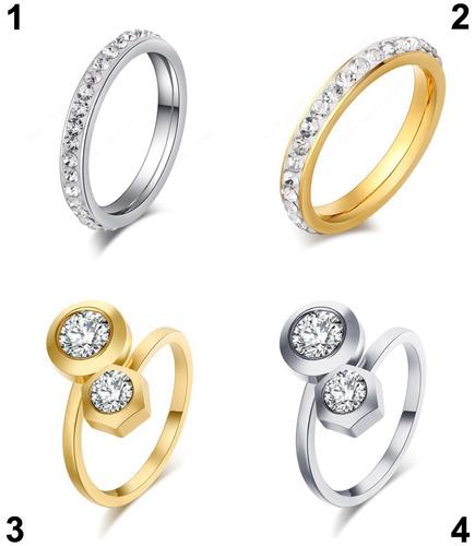 anillos para dama acero inoxidable el mejor precio eligelos