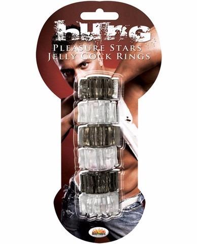 anillos para mejorar erección y retardar paq. 6 jelly cock
