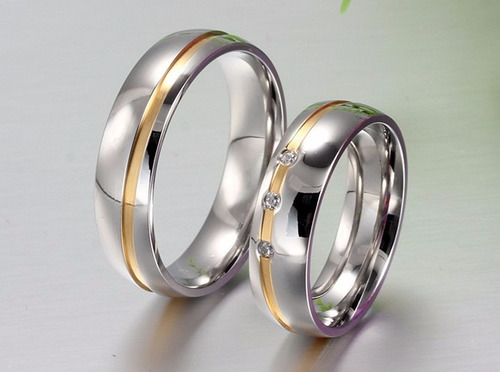 anillos para parejas acero inoxidable