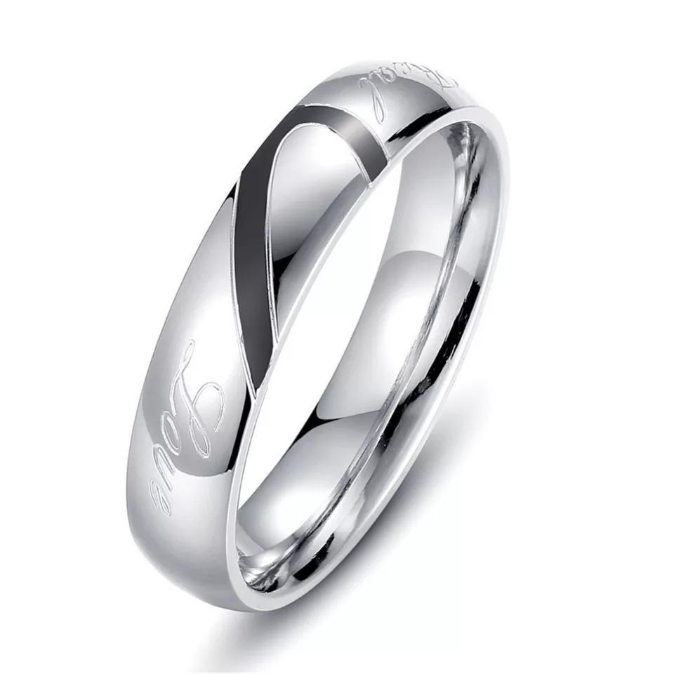1abae208566d anillos para parejas corazón real love amor real titanio. Cargando zoom.
