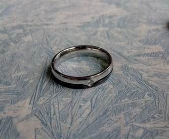 anillos para parejas de acero inoxidable