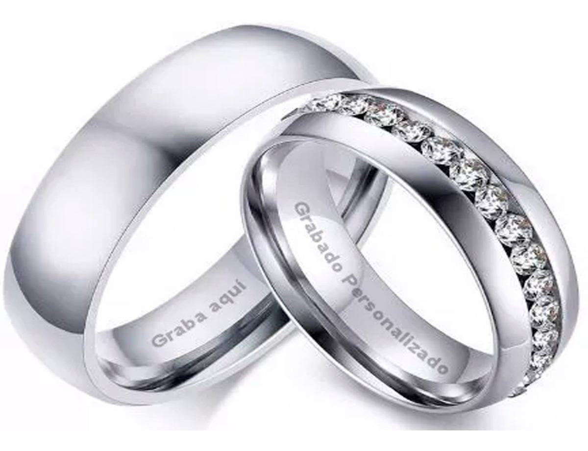 Anillo de dos pares de colores negro anillos de pareja de acero inoxidable matrimonio compromiso pareja señora