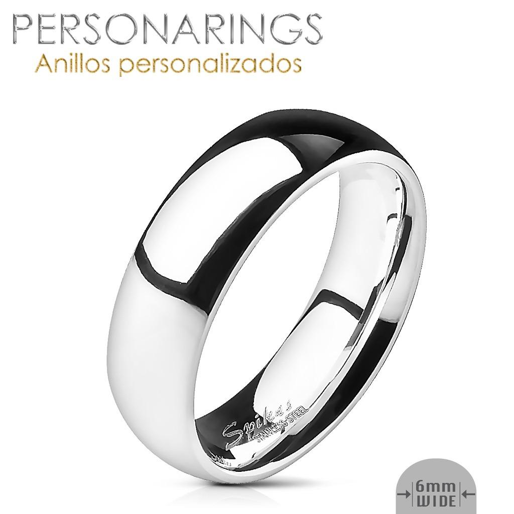 d99e28fafc3c anillos pareja grabados acero inoxidable personalizados par. Cargando zoom.