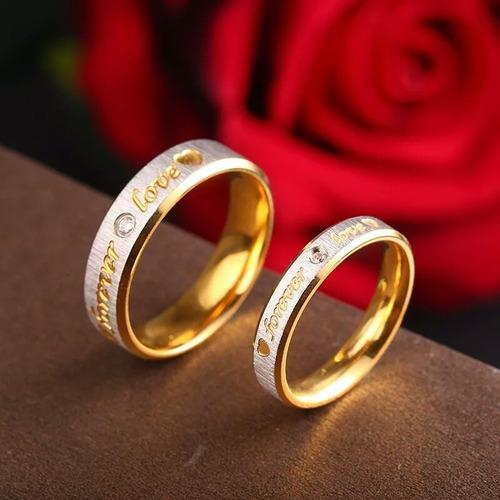 anillos pareja hermosos en acero valor par