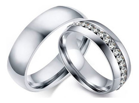 Anillos Parejas Churumbela Zirconias Amor Matrimonio Novios