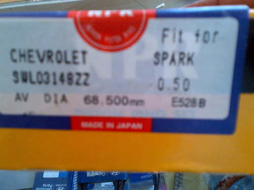anillos pistón chevrolet spark 0.50