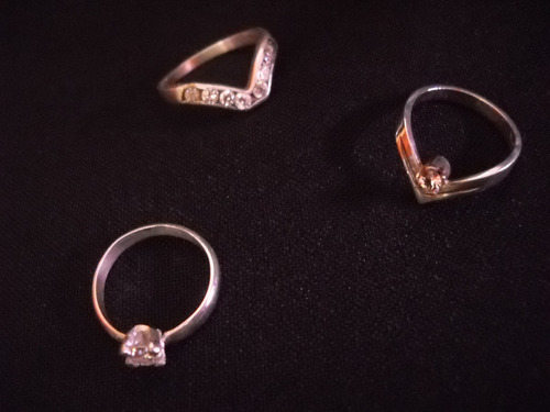 anillos  plata 925, con piedra circonia