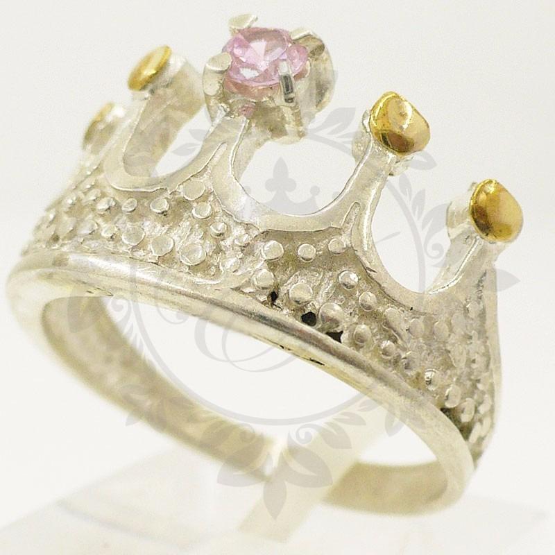 7b3d9e7d67da anillos plata 925 y oro corona con piedra ideal regalo mamá. Cargando zoom.