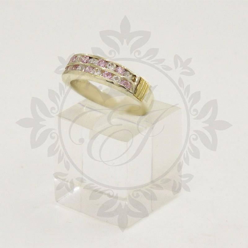 affd4da93a12 anillos plata 925 y oro mujer c  piedras doble medio sin fin. Cargando zoom.